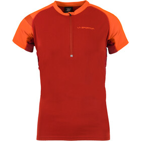 La Sportiva Advance - T-shirt course à pied Homme - orange/rouge